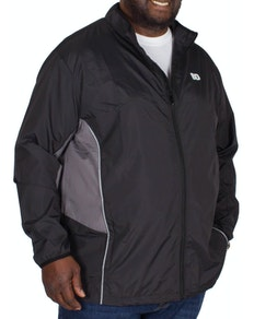 Bigdude Lightweight Contrast Showerproof Jacket Black
