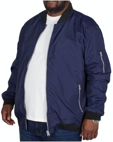 Bigdude Lined Bomber Jacket Navy