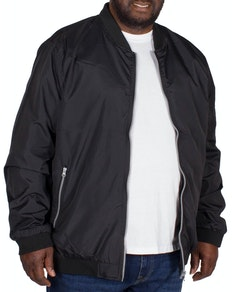 Bigdude Lined Bomber Jacket Black