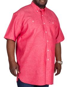 ba5c7c4e0d2e Espionage Plain Linen Mix Shirt Dark Coral