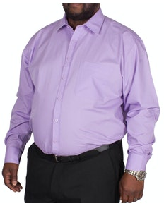 Espionage Traditional Long Sleeve Plain Shirt Lilac