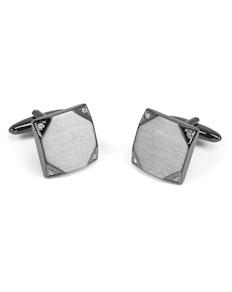 Sophos Corner Design Gunmetal/Crystal Cufflinks