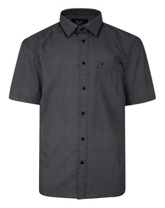 Cotton Valley Short Sleeve Patterned Shirt Black