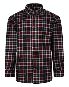 Cotton Valley Checked Worker Shirt Wine