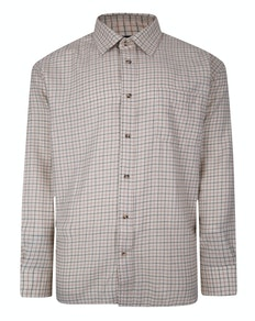 Cotton Valley County Check Long Sleeve Shirt Light Beige