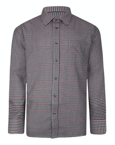 Cotton Valley County Check Long Sleeve Shirt Red/Brown