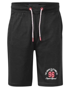 D555 Tompkins Elasticated Waist Fleece Shorts Black