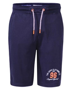 D555 Tompkins Elasticated Waist Fleece Shorts Navy