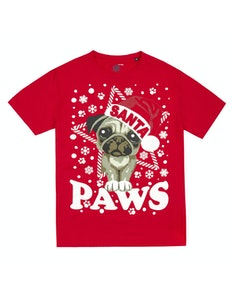 Santa Paws Printed T-Shirt Red