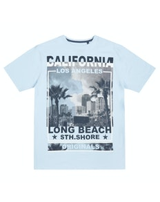 Pierre Roche LA South Shore T-Shirt Pale Blue