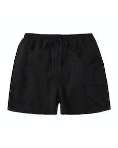 Embroidered Swim Shorts Black