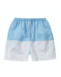 Two Tone Swim Shorts Blue/White