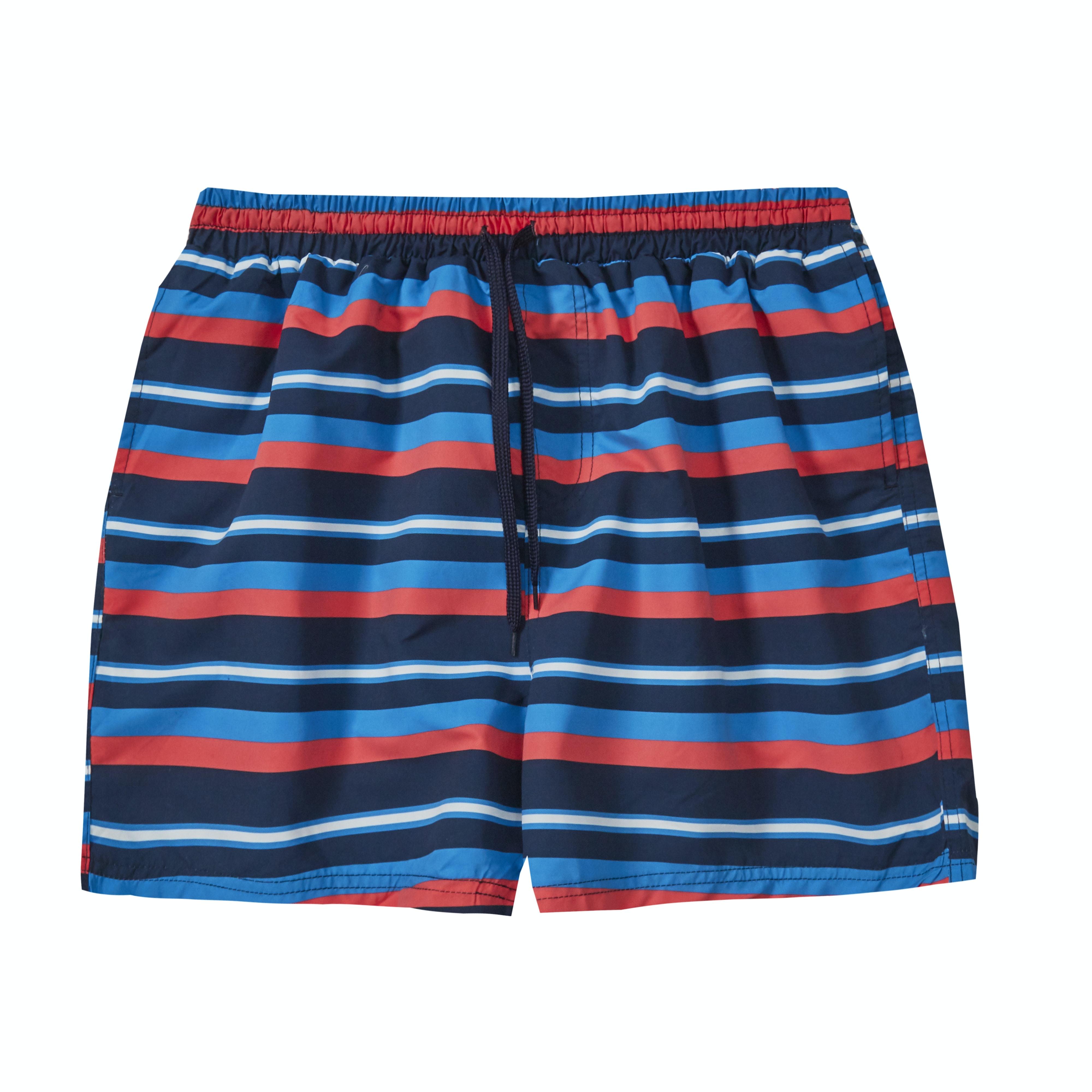 Baum Stripe Swim Shorts Navy