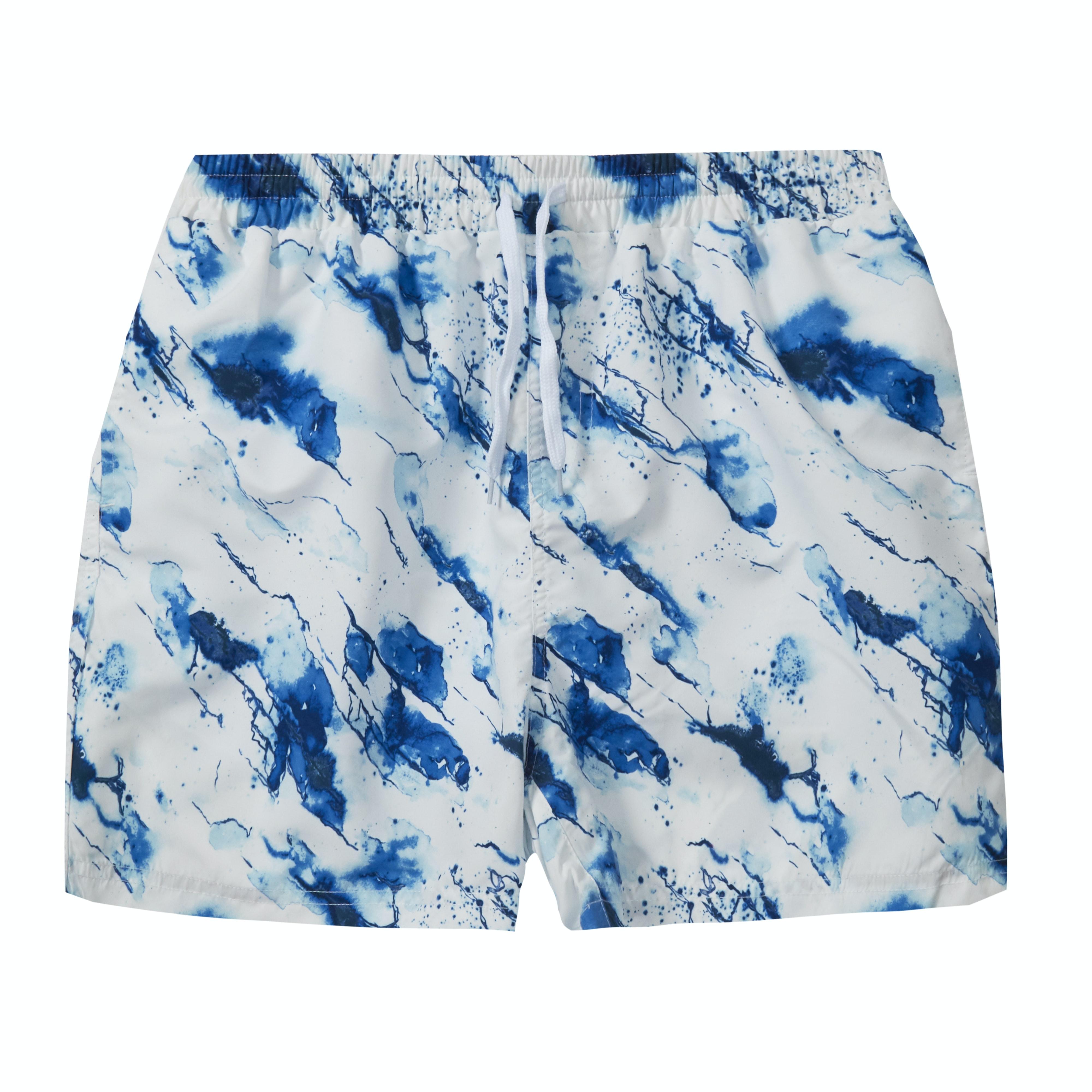 Baum Splash Print Swim Shorts White
