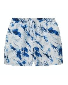 Splash Print Swim Shorts White