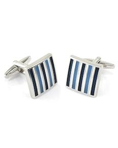 Sophos Blue Stripe Square Cufflinks