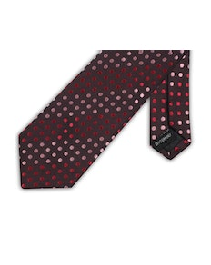 Knightsbridge Extra Long Polka Dot Tie Pink/Red