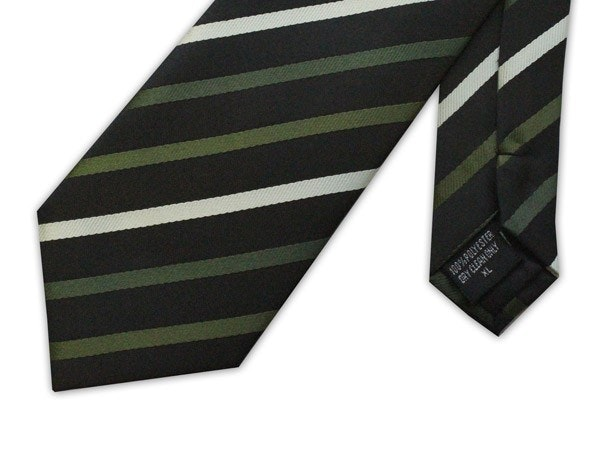 Knightsbridge Extra Long Stripe Tie Green