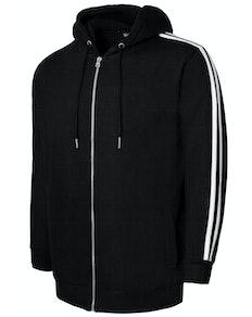 Bigdude Twin Stripe Hoody Black Tall