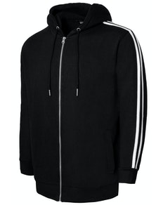 Bigdude Twin Stripe Hoody Black