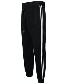 Bigdude Twin Stripe Joggers Black