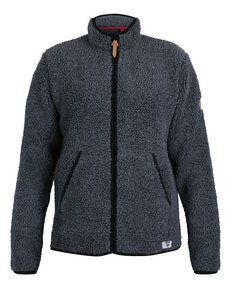 D555 Bawty Full Zip Fleece Charcoal