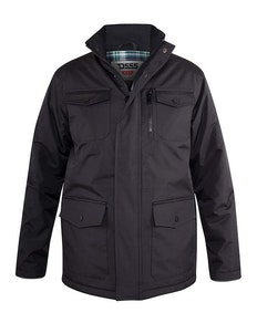 D555 Fargo Utility Coat Black