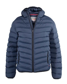 D555 Huntington Padded Hooded Jacket Navy