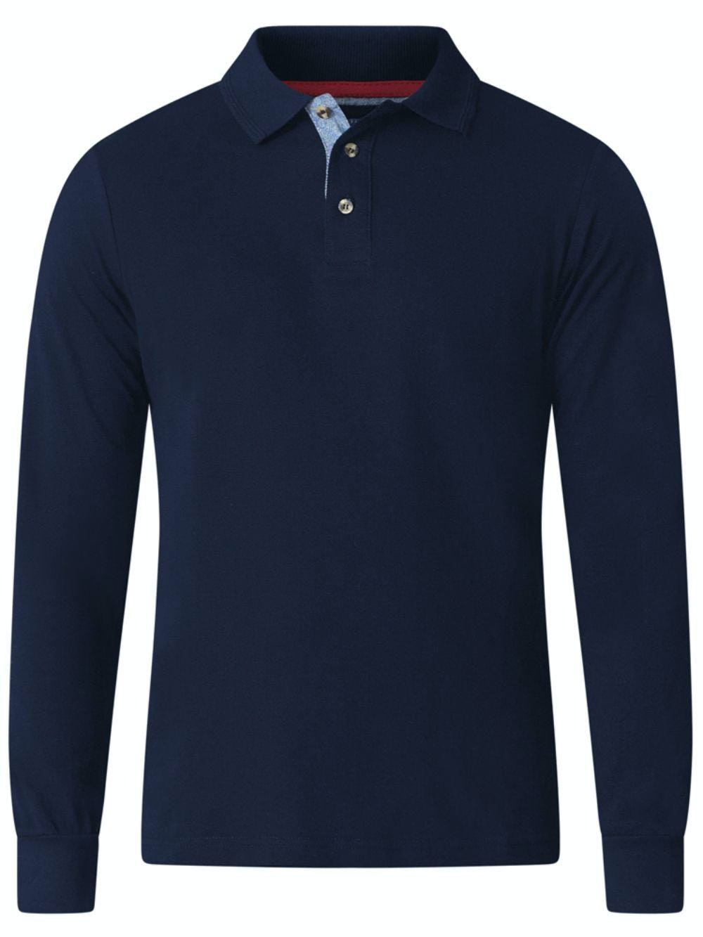 D555 Darvin Long Sleeve Polo Navy