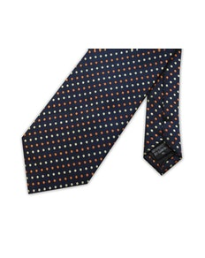 Knightsbridge Extra Long Spots Tie Navy