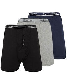 KAM 3 Pack Boxer Shorts