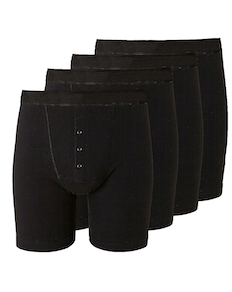 Bigdude 4 Pack Boxer Shorts Black