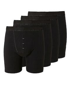 Bigdude 4 Pack Boxer Shorts Black