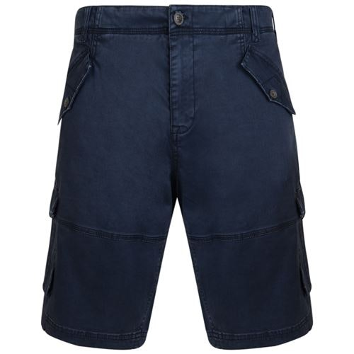 KAM Stretch Cargo Shorts Navy