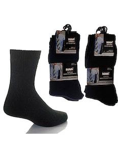 Basics Black Socks 6 Pairs