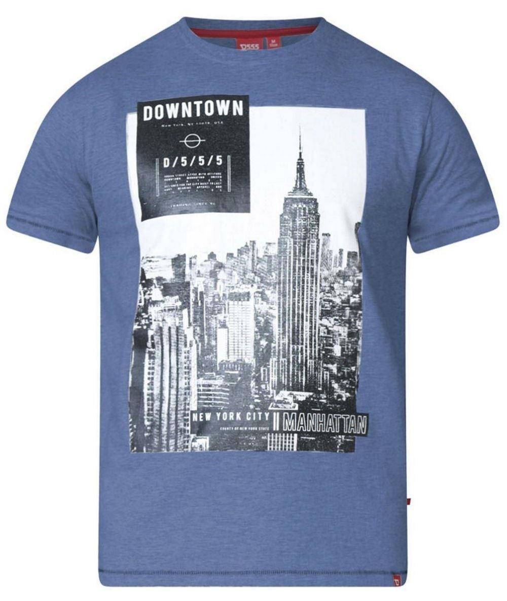 D555 Clive Printed T-Shirt Denim