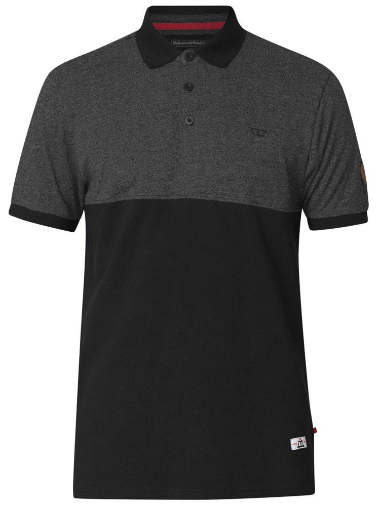 D555 Stefhen Polo Shirt Black Tall
