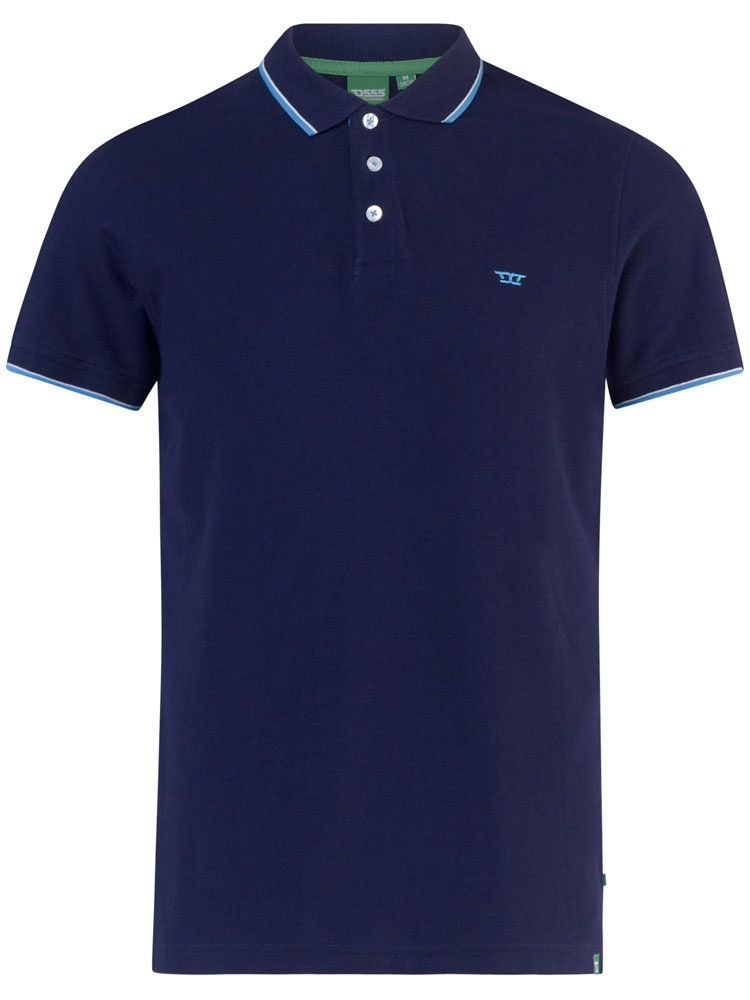 D555 Track Polo Shirt Navy