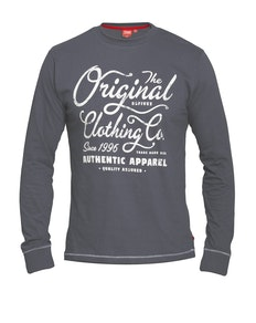 D555 Austin Printed T-Shirt Charcoal