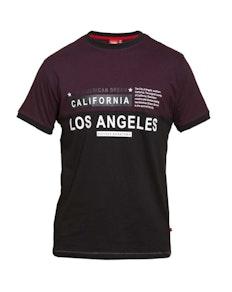 D555 Jackson Ringer T-shirt Burgundy