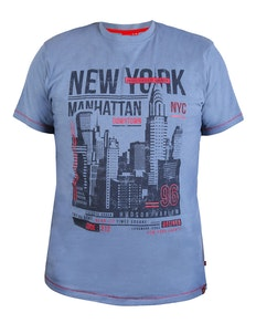 D555 Delta New York Printed T-Shirt Denim