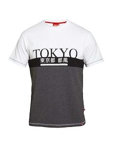 D555 Morris Tokyo Print Cut & Sew T-Shirt Charcoal