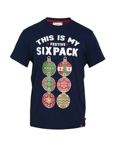 D555 Dasher Christmas Printed T-Shirt Navy