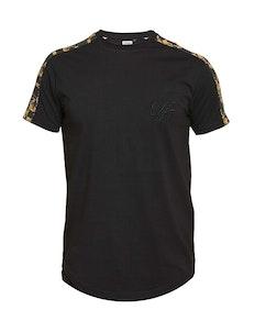 D555 Damien Panel Printed T-Shirt Black