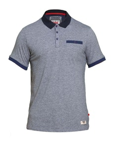 D555 Dryden Fine Stripe Polo Shirt Navy