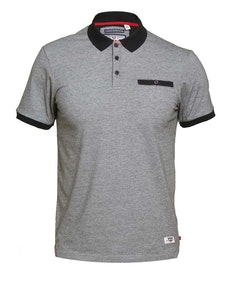 D555 Dryden Fine Stripe Polo Shirt Black