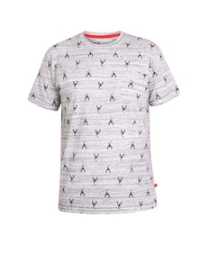 D555 Dario Printed T-Shirt Grey Reno