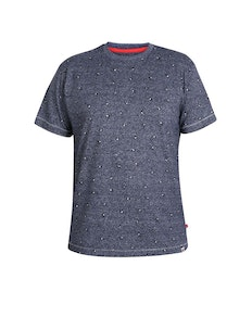 D555 Coleman Printed T-Shirt Blue Twist