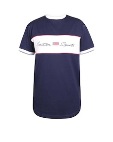 D555 Cullen Couture Cut & Sew T-Shirt Navy