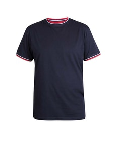 D555 Bates Tipped T-Shirt Navy